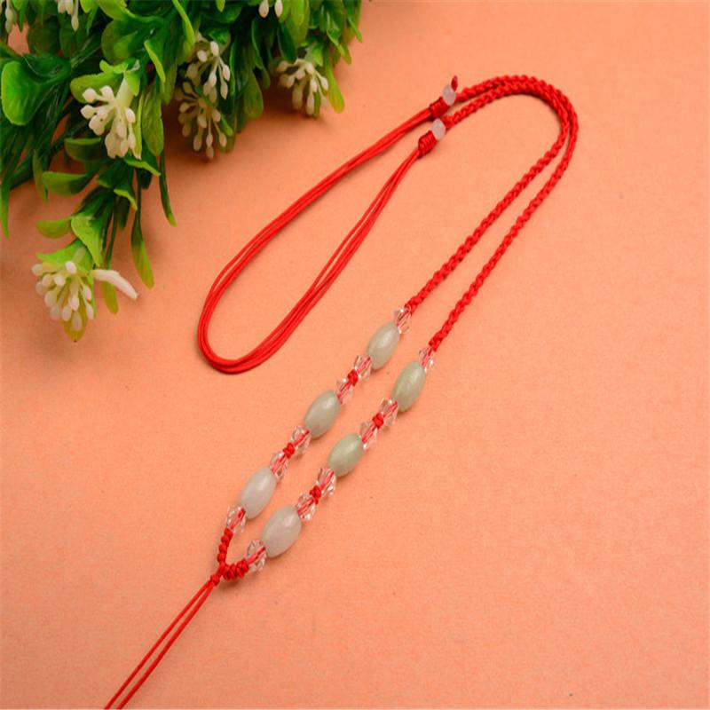 彩丽馆 手工编织玉石项链挂绳 翡翠玉佩吊坠绳男女款挂绳
