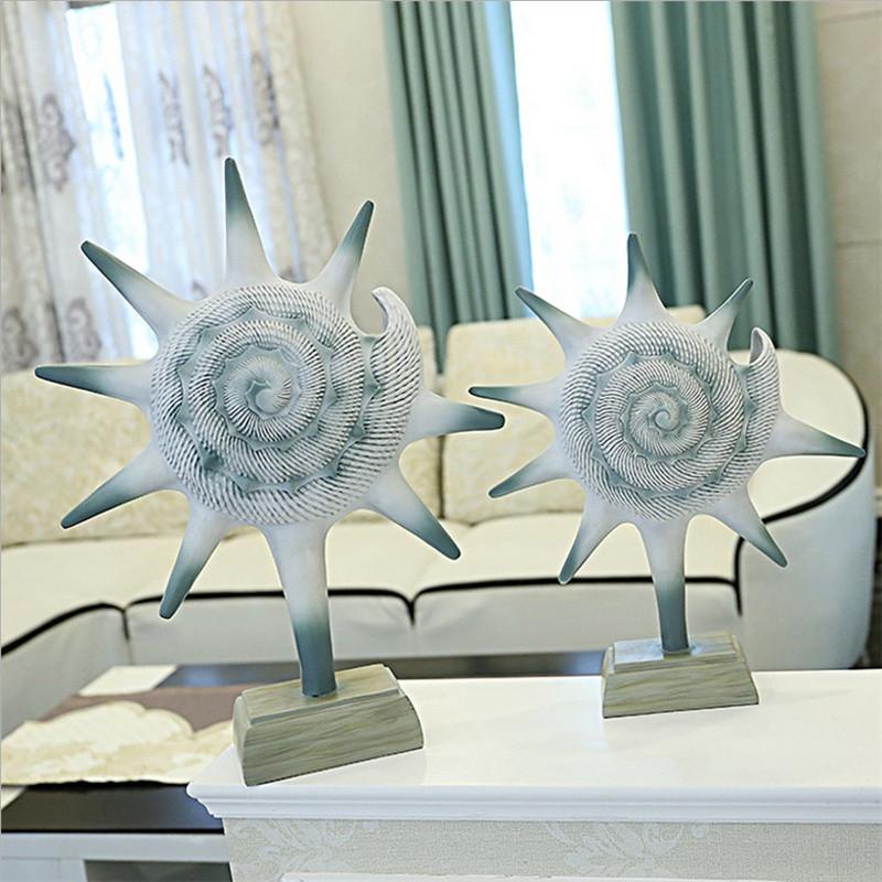 彩丽馆现代简约欧式电视柜摆件 北欧家居装饰品客厅海螺摆件 乔迁礼物图片