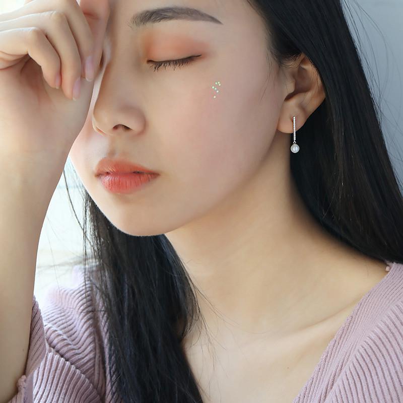 彩丽馆珍珠几何耳环女耳钉气质纯银日韩国性感个性简约百搭潮人学生图片