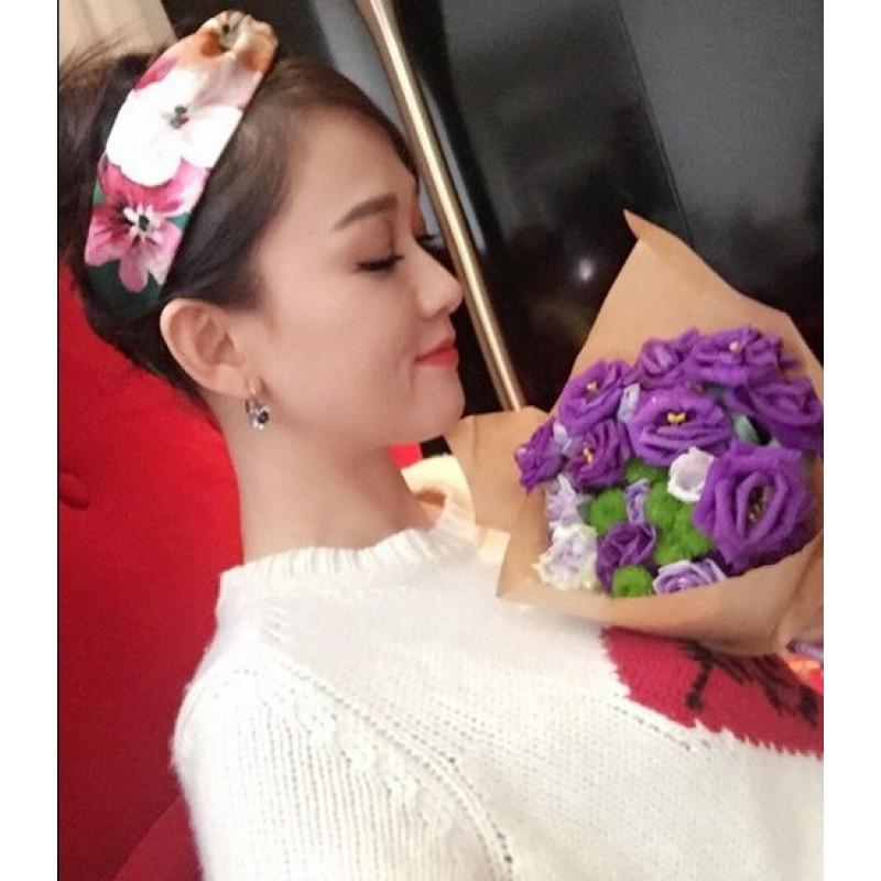 春夏新品头发饰品可爱海边陈乔恩同款发箍日韩版交叉松紧束发带送女