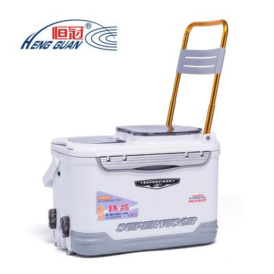 恒冠 HG-030多功能垂钓箱装鱼钓鱼箱32L台钓箱渔具配件用品