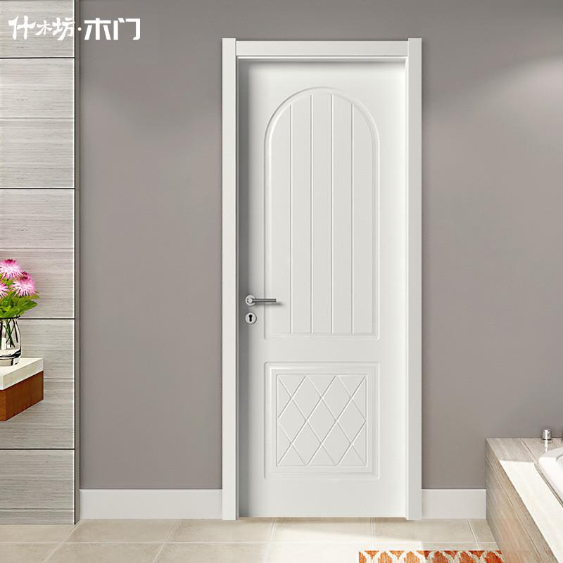 什木坊定做新中式静音门室内门套装门免漆实木复合生态木门卧室门