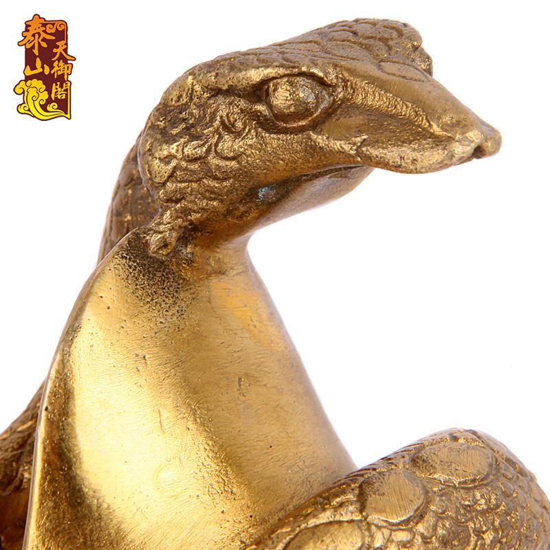 纯铜十二生肖摆件工艺品 招财铜蛇家居饰品客厅办公室装饰品礼品 属蛇