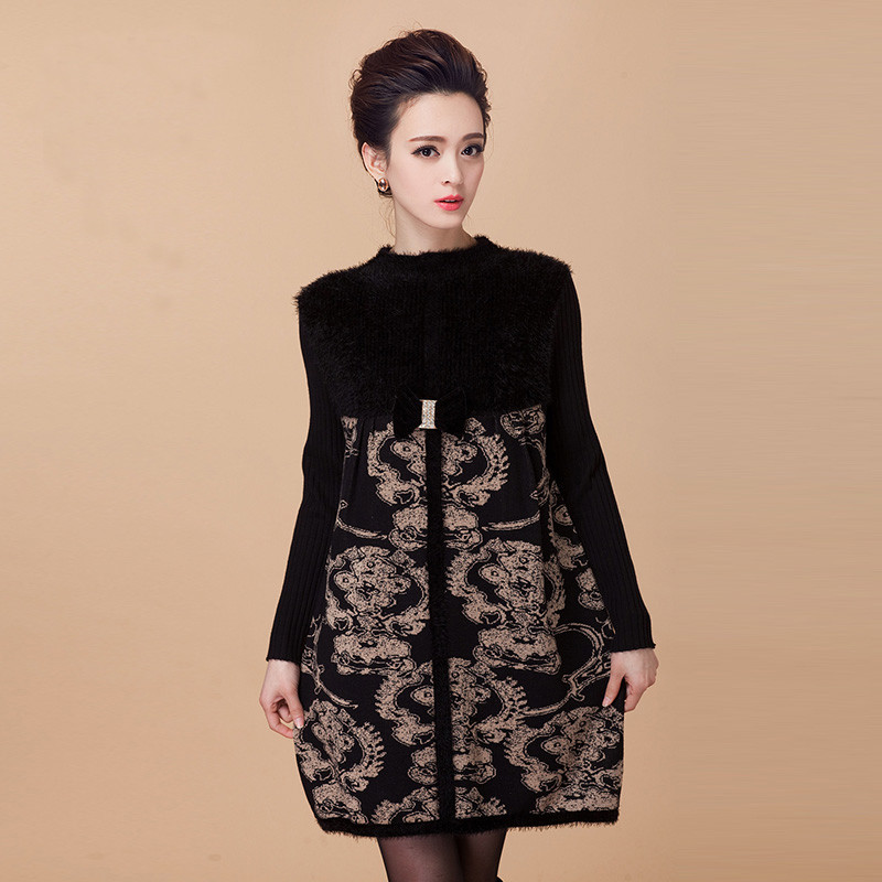 伊依诗 春秋羊毛衫套头女式毛衣打底中年裙冬