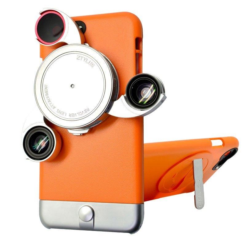 思拍乐Ztylus手机iphone6SP多彩橙指纹4合1特小米手机6钢化膜防苹果图片