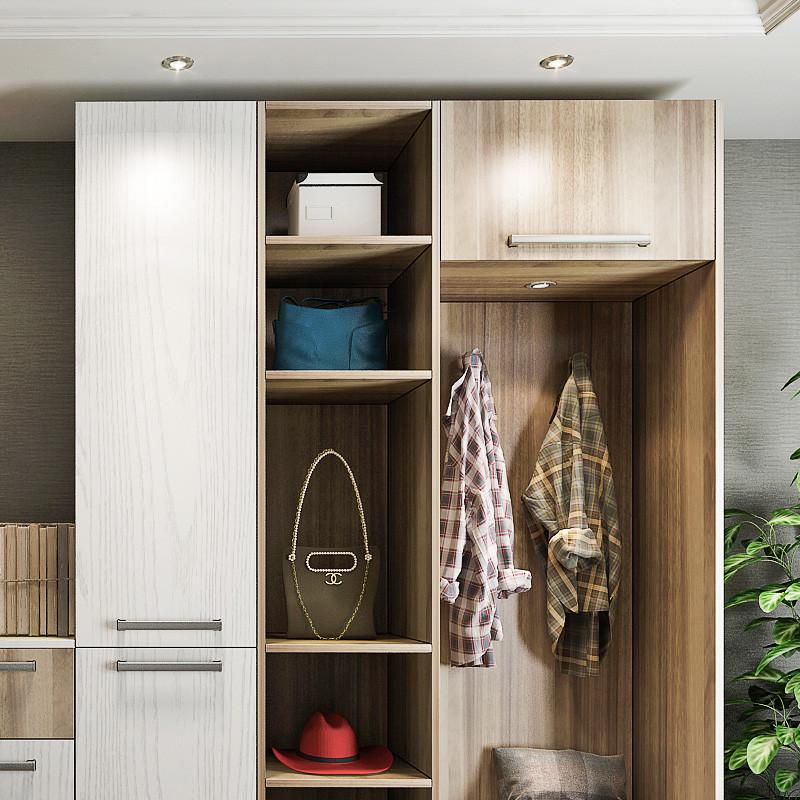 鞋柜 全屋定制玄關柜現代簡約門廳柜 客廳儲物玄關柜隔斷進門衣柜e0級