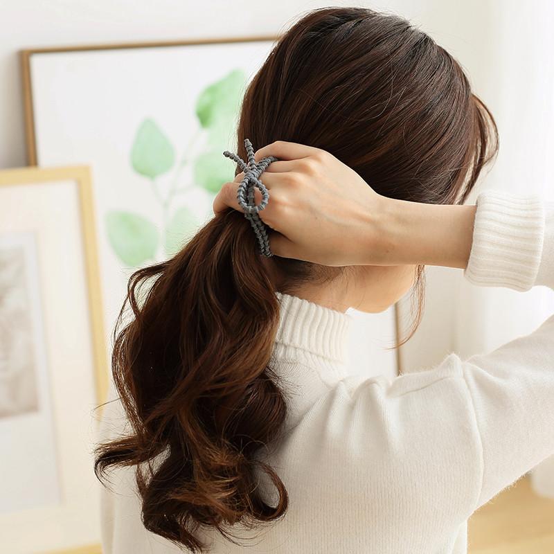 橡皮筋发圈发绳头绳蝴蝶结韩国饰品扎头发多条装