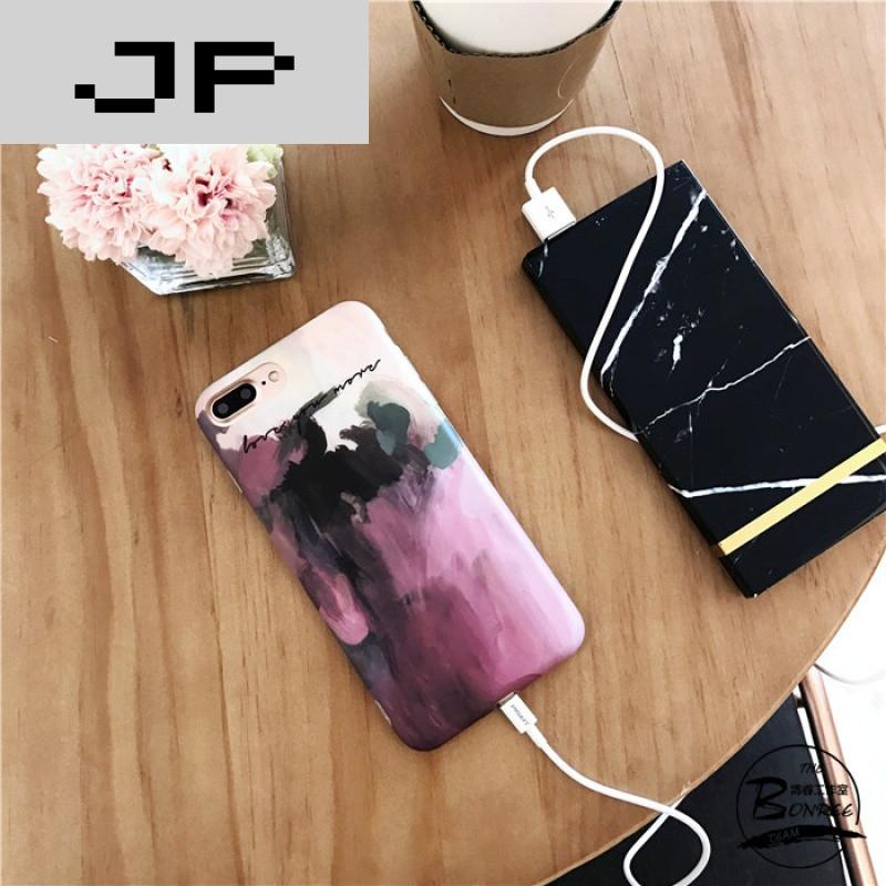 jp潮流品牌文艺水粉画苹果6s/7手机壳iphone6p/7plus全包软壳创意个性
