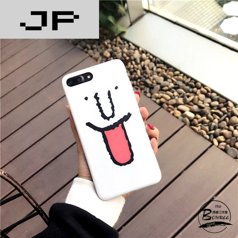 jp潮流品牌韩国ins可爱趣味表情iphone7 plus手机壳苹果7/6s个性保护