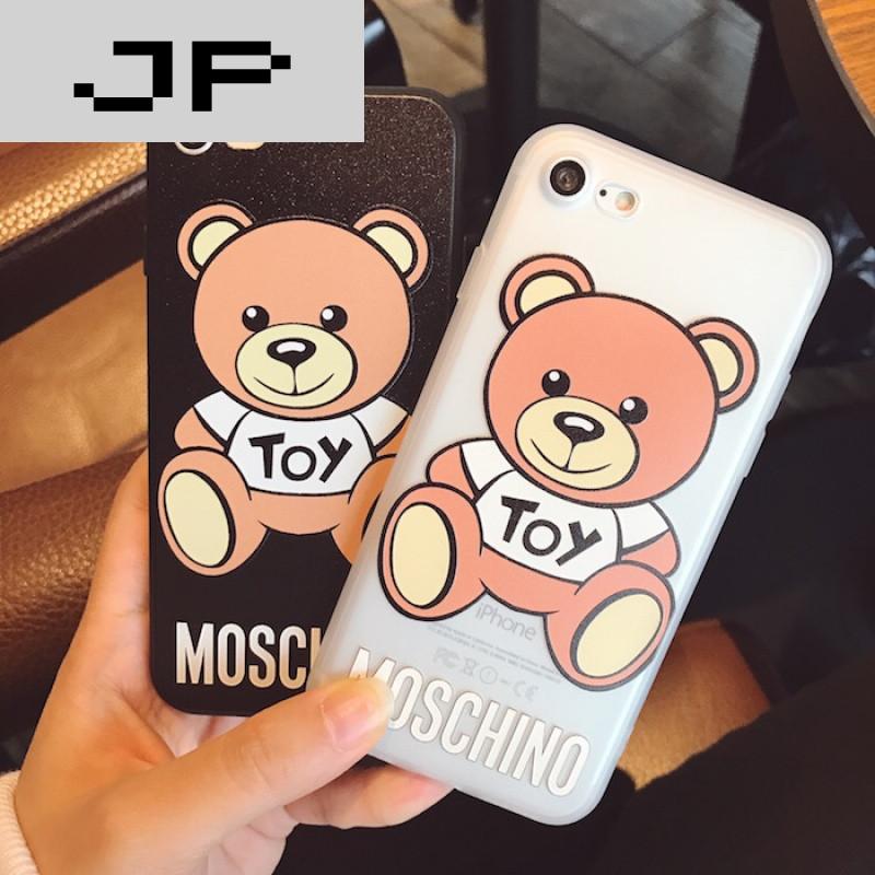 jp潮流品牌韩国卡通小熊iphone6plus手机壳萌情侣苹果