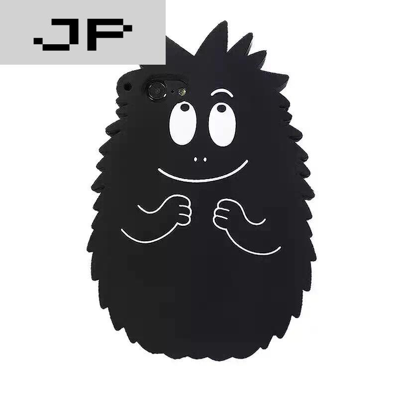 jp潮流品牌欧美可爱菠萝头iphone7呆萌毛毛怪6s苹果6plus硅胶软壳笑脸