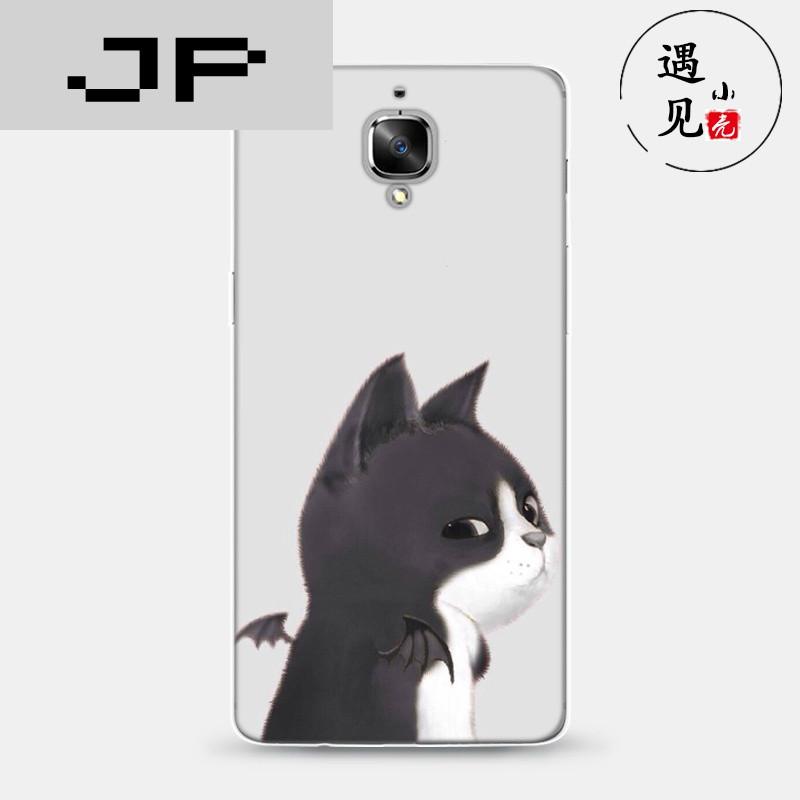 jp潮流品牌3t手机壳保护套1 3薄软壳硅胶小猫天使恶魔手绘情侣动物