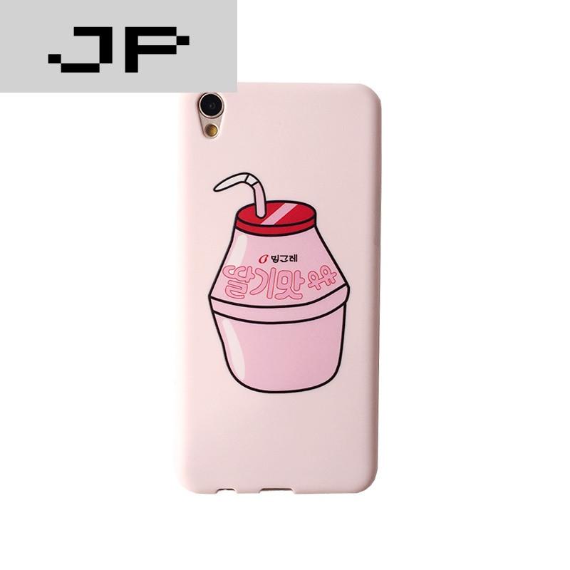 jp潮流品牌oppor9/r9s手机壳女款个性创意韩国日系可爱萌小清新饮料