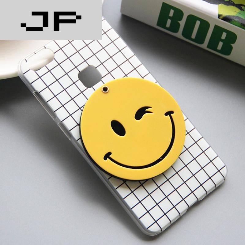 jp潮流品牌韩国gd步步高x6笑脸手机壳vivox6plus黑白格子手机套镜子情
