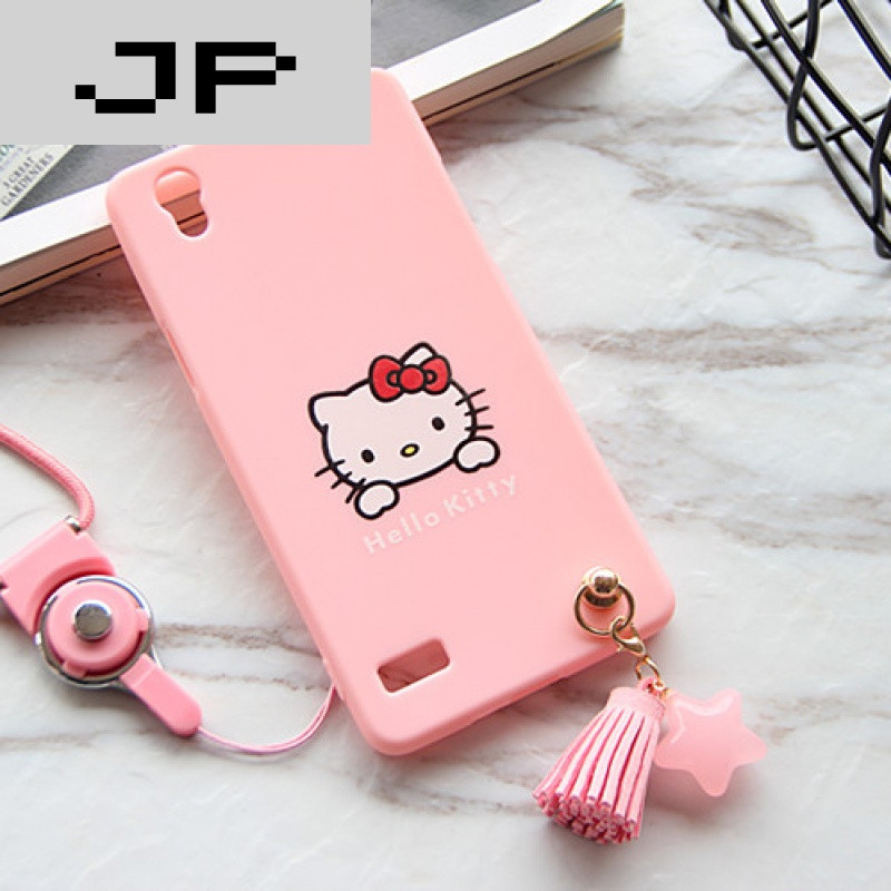 手机套品牌_jp潮流品牌oppo星星流苏a37手机壳a33kt猫手机套a51挂绳卡通软壳全包