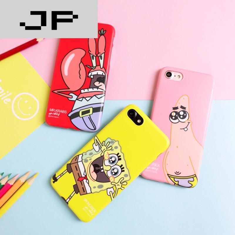 jp潮流品牌原创意可爱卡通海绵宝宝iphone6s 7plus手机壳趣味苹果7 6