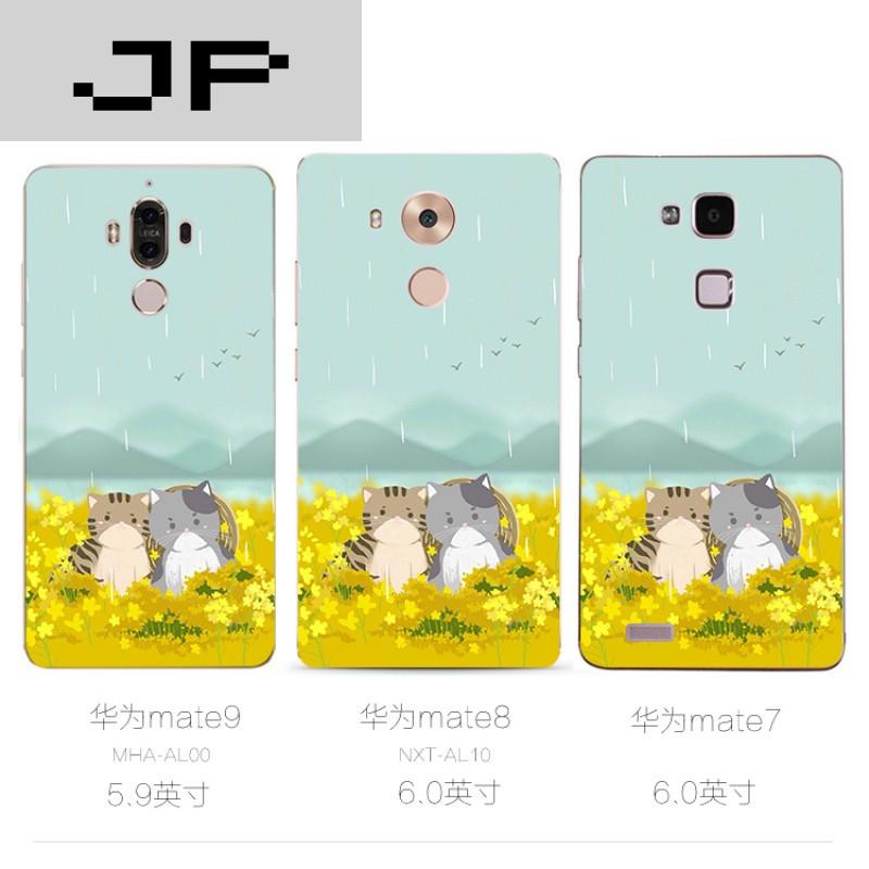 jp潮流品牌日韩手绘华为荣耀6x 6plus mate9 8 7手机壳可爱卡通猫咪