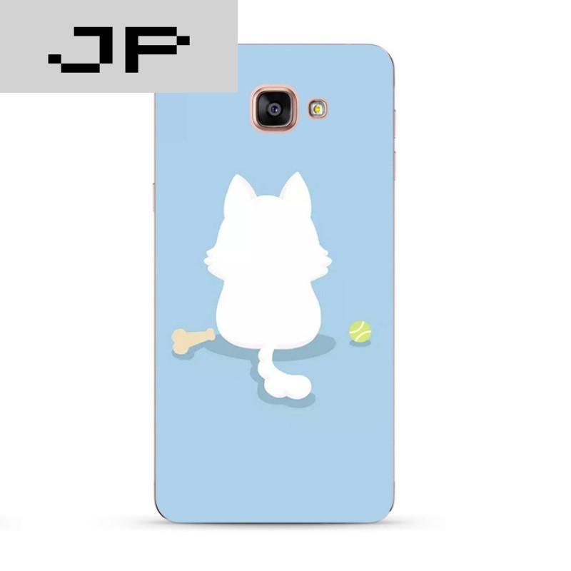 jp潮流品牌可爱卡通手绘猫咪三星a7a8a9 c7c5手机壳全包硅胶软壳防摔