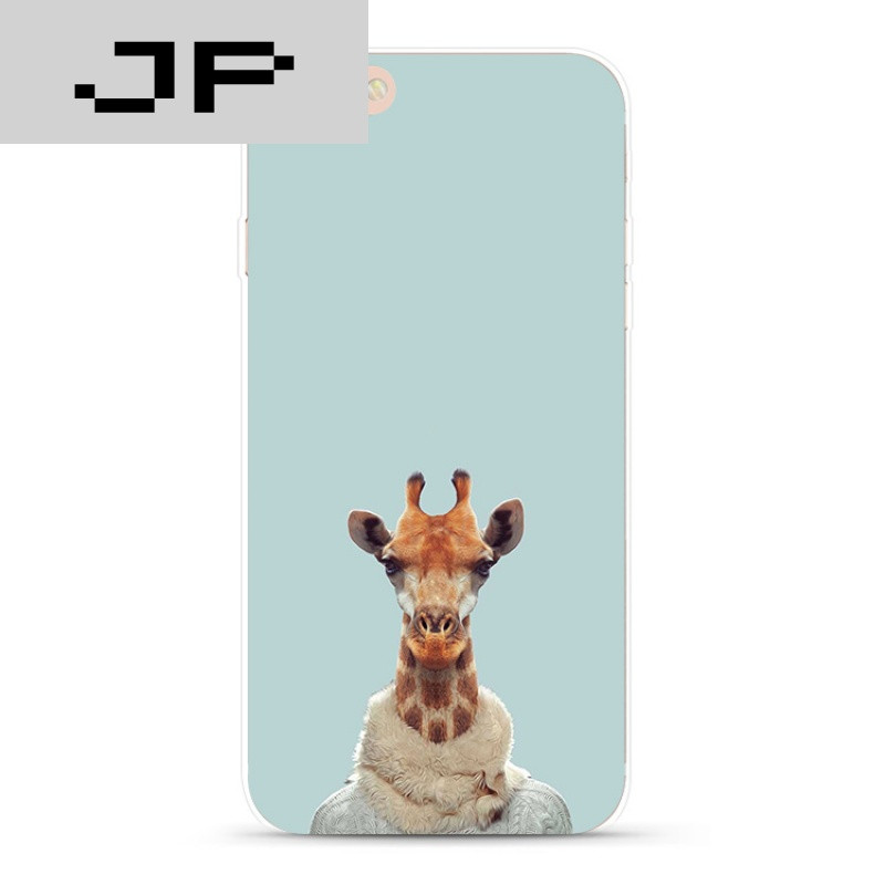 jp潮流品牌个性创意简约搞怪动物苹果iphone7 6s plus 5s手机壳全包软