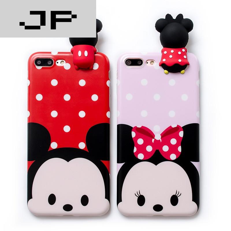 jp潮流品牌米妮米奇iphone6手机壳可爱卡通苹果7plus外壳硅胶6s防摔软