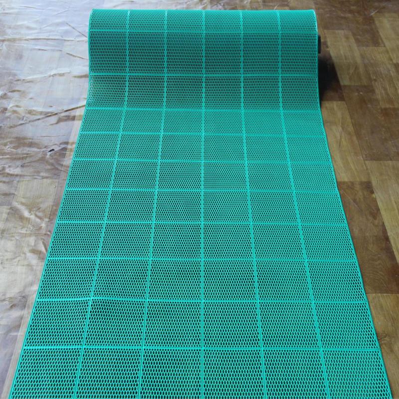 六角形网眼镂空防滑地垫浴室游泳池门厅走廊楼梯耐磨橡胶地垫地毯