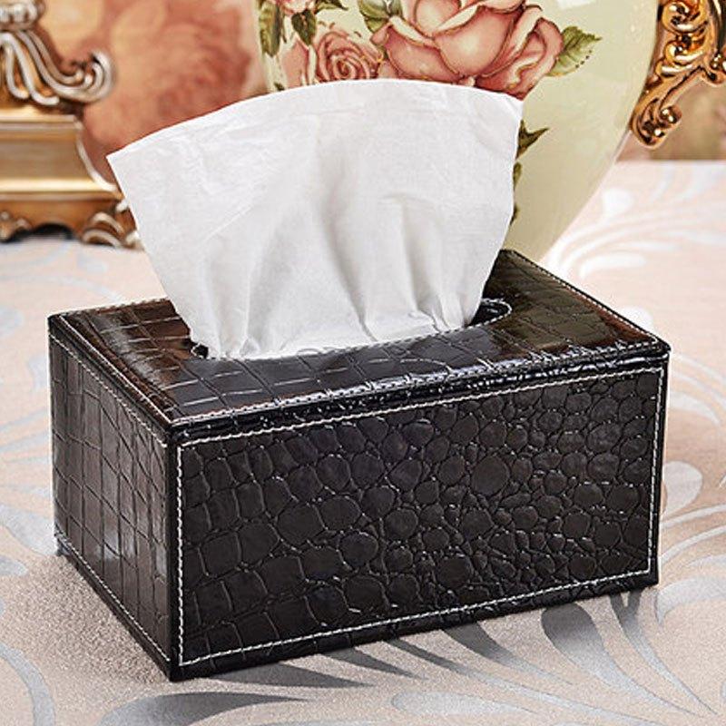 皮革纸巾盒抽纸盒 餐巾纸抽盒创意欧式家用车用客厅茶几桌面大小号