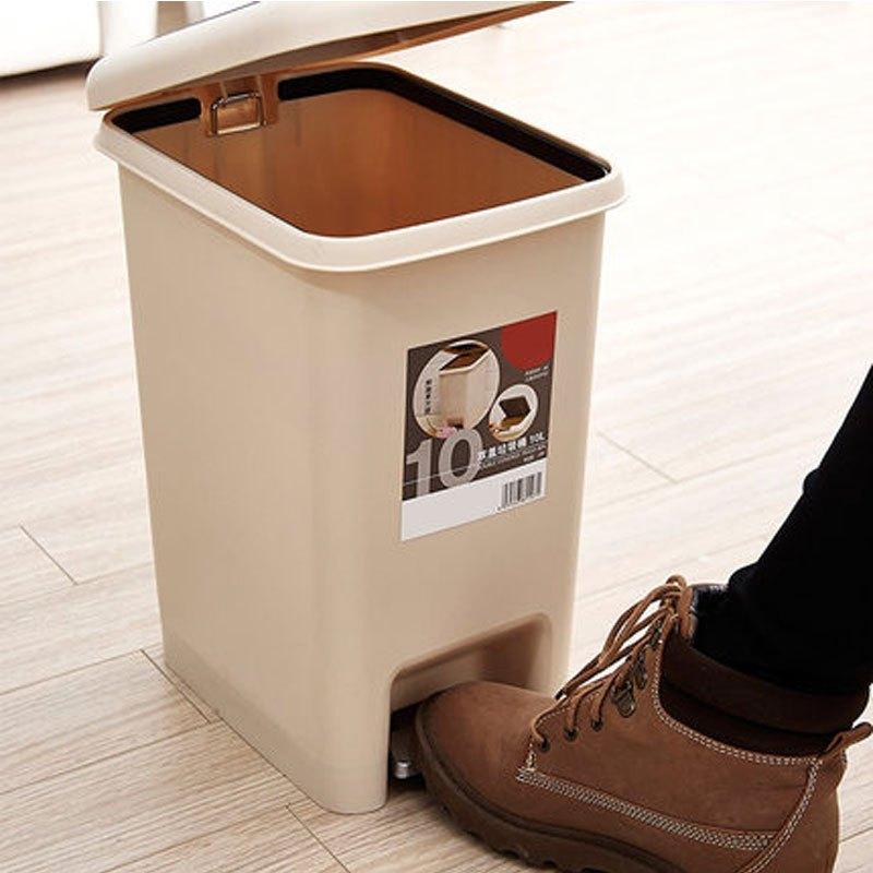 桶家用衛生間廚房客廳臥室腳踩垃圾桶純色時尚簡約生活日用清潔用品