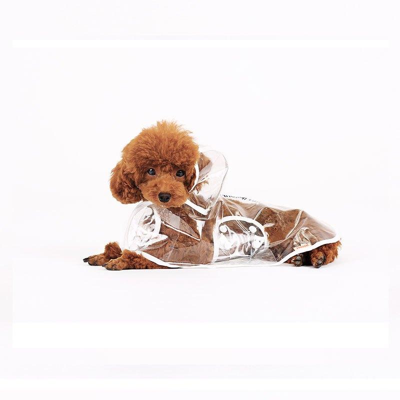 狗狗雨衣泰迪比熊雪纳瑞法斗透明宠物防水雨披小型犬柯基夏装衣服两用