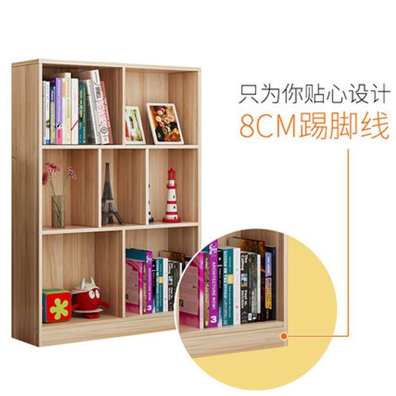 书架简约现代学生书柜带门自由组合落地柜子简易桌上小书架置物架生活图片