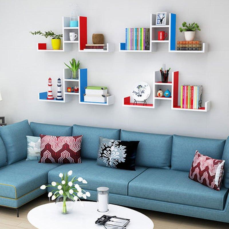 墙上置物架墙壁客厅一字隔板搁板壁挂墙面层板书架装饰架免打孔多用多