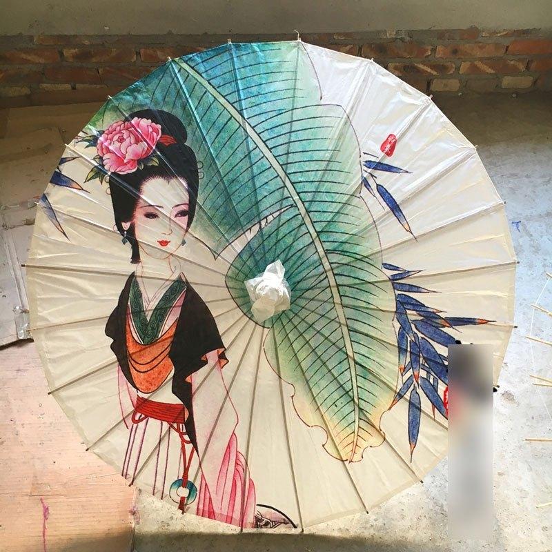 中国风绸布伞复古油纸伞装饰道具伞舞蹈cos伞古风工艺