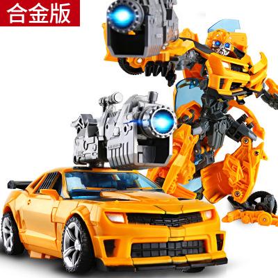 摩彩MOCAI合金变形玩具金刚4金刚5擎天黄蜂汽车机器人模型变形合金及塑胶12个月以上儿童 和金版黄蜂战士