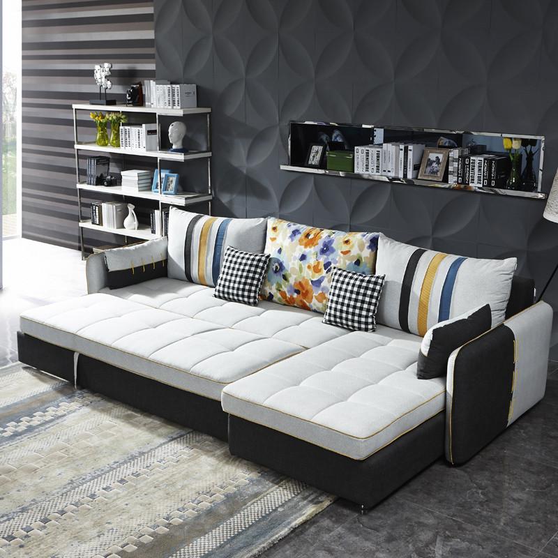 好风景家居 沙发 多功能沙发布艺沙发 功能沙发床可定制 l型沙发18n