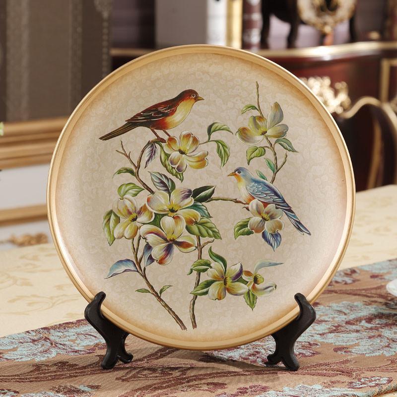 看盘摆盘装饰餐厅墙面装饰盘子挂盘陶瓷盘摆件工艺术盘子墙饰-c款图片