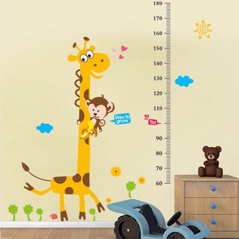 可移除贴纸卡通动物墙贴宝宝卧室儿童房装饰贴画幼儿园墙贴纸-d款维泥