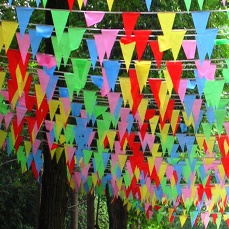 新年彩旗开张婚庆三角旗三角彩旗小彩旗小红旗三角串旗- 小号一包图片