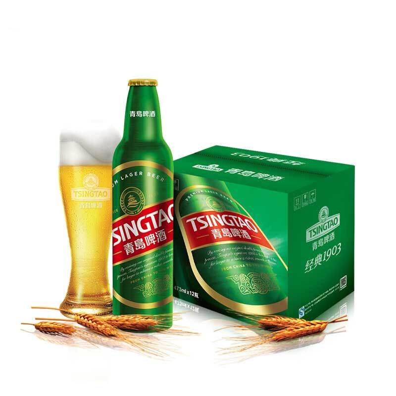 青岛啤酒 经典 10度1903 473ml*12铝瓶装 整箱装 官方
