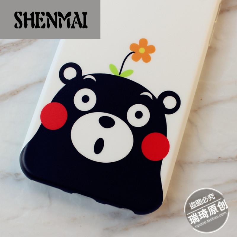 shm品牌创意星空卡通熊本iphone6s手机壳熊硅胶软壳苹果6 plus防摔