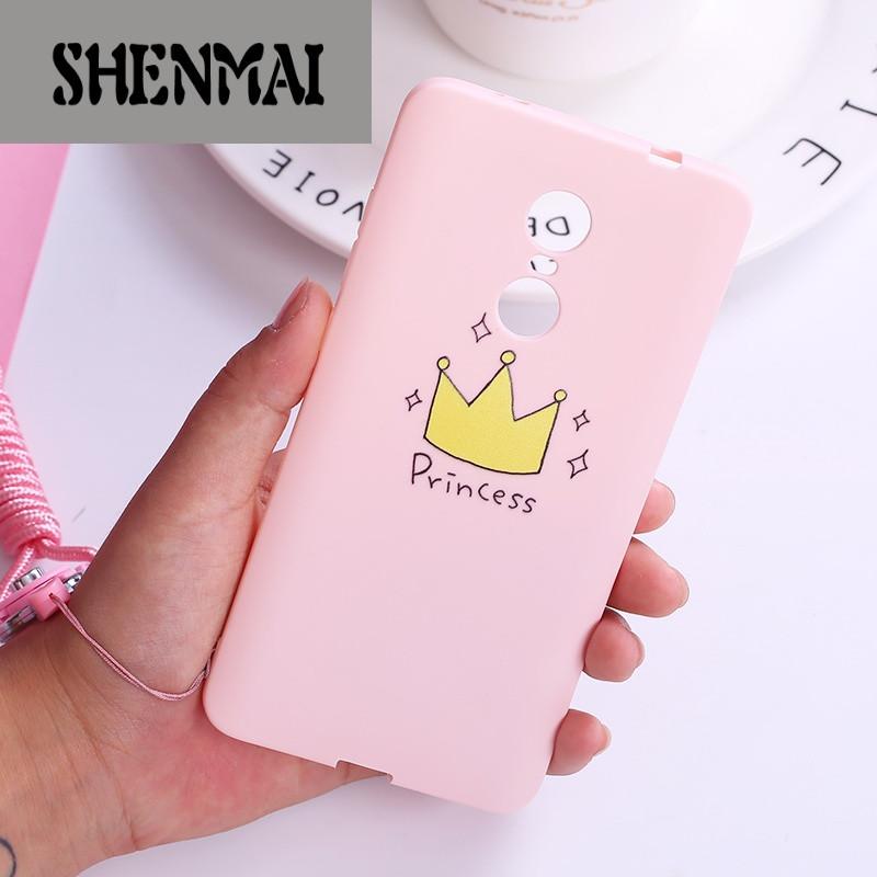 shm品牌小米红米note4x手机壳硅胶全包女款note4x粉色可爱个性创意防