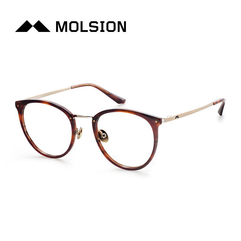陌森眼镜框女2017年新款全框板材情侣近视镜眼镜架男款圆框mj6082