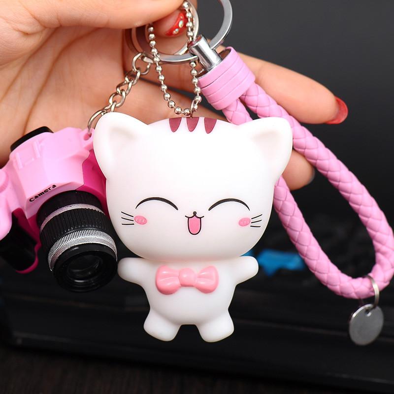 创意新款卡通猫咪钥匙扣可爱猫弟猫妹个性钥匙链挂件汽车包包挂饰