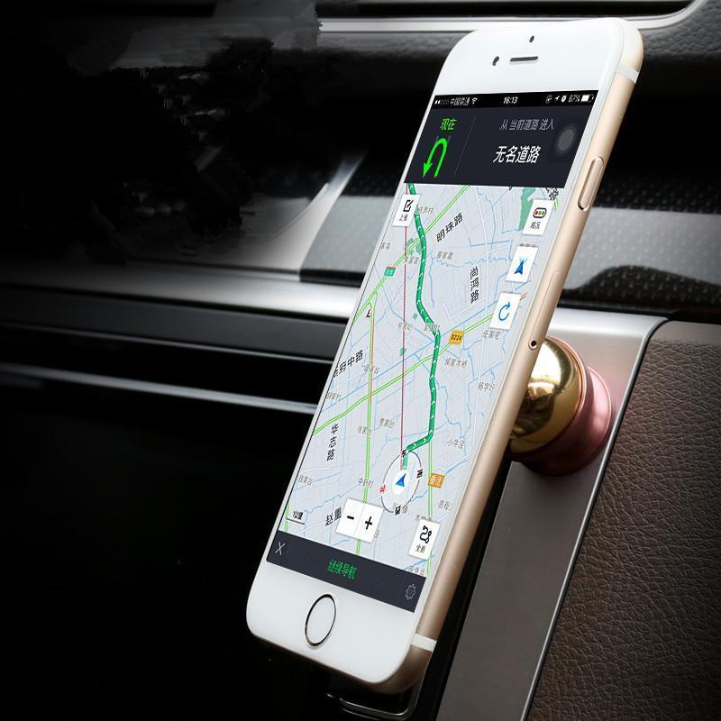 沃尔沃汽车专用手机座车载手机支架磁铁磁性导航支架手机架子 沃尔沃