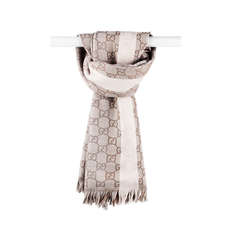 gucci 古驰 女士羊毛针织花纹时尚围巾268940 4g200 9764