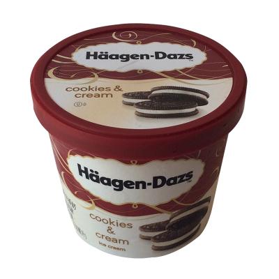 哈根达斯 大杯品脱冰淇淋雪糕 曲奇香奶味冰激凌 473ml