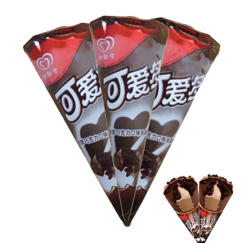 和路雪 可爱多甜筒冰激凌雪糕 67g*12 巧克力