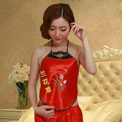 上新款 女士肚兜式內衣宮廷性感系帶少女公主復古刺繡情趣大碼睡衣成人套