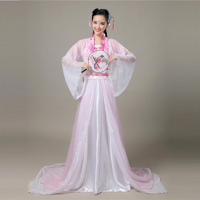 【新款2017】新款古代古装女服装汉服舞蹈仙女贵妃飘逸公主舞台表演