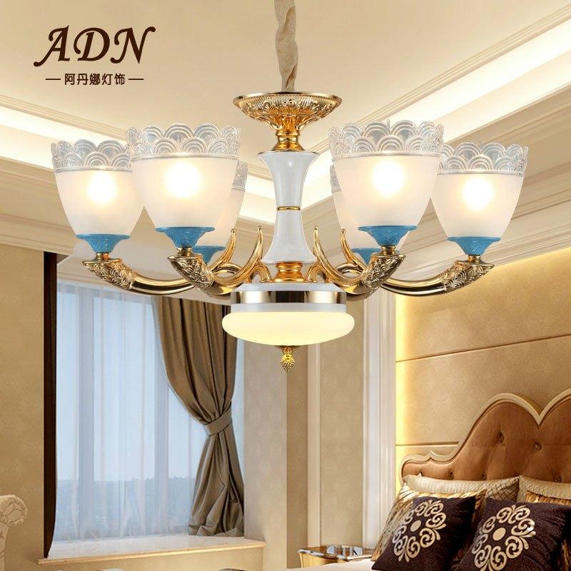 阿丹娜 北欧风美式吊灯轻奢客厅铜灯现代简约设计师样板房餐厅卧室
