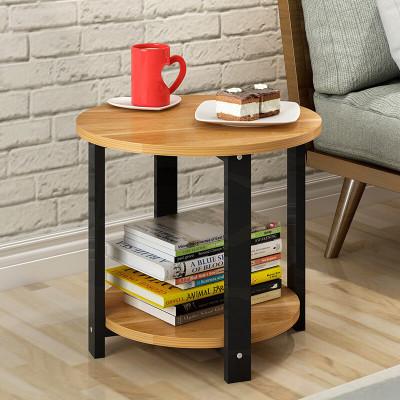 明思鑫德 客廳家具人造板茶幾簡約現代洽談桌創意咖啡桌邊幾北歐風格榻榻米小戶型餐桌圓形沙發白色小圓桌茶桌