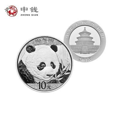 河南中錢 中國金幣 2018年30克普制熊貓銀幣18貓銀貓 綠盒